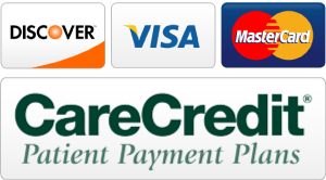 Accepted forms of payments - Discover, VISA, MasterCard, CareCredit